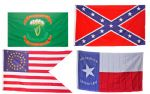 CONFEDERATE & UNION 5X3ft FLAGS